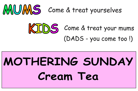 A Treat for mums - cream tea